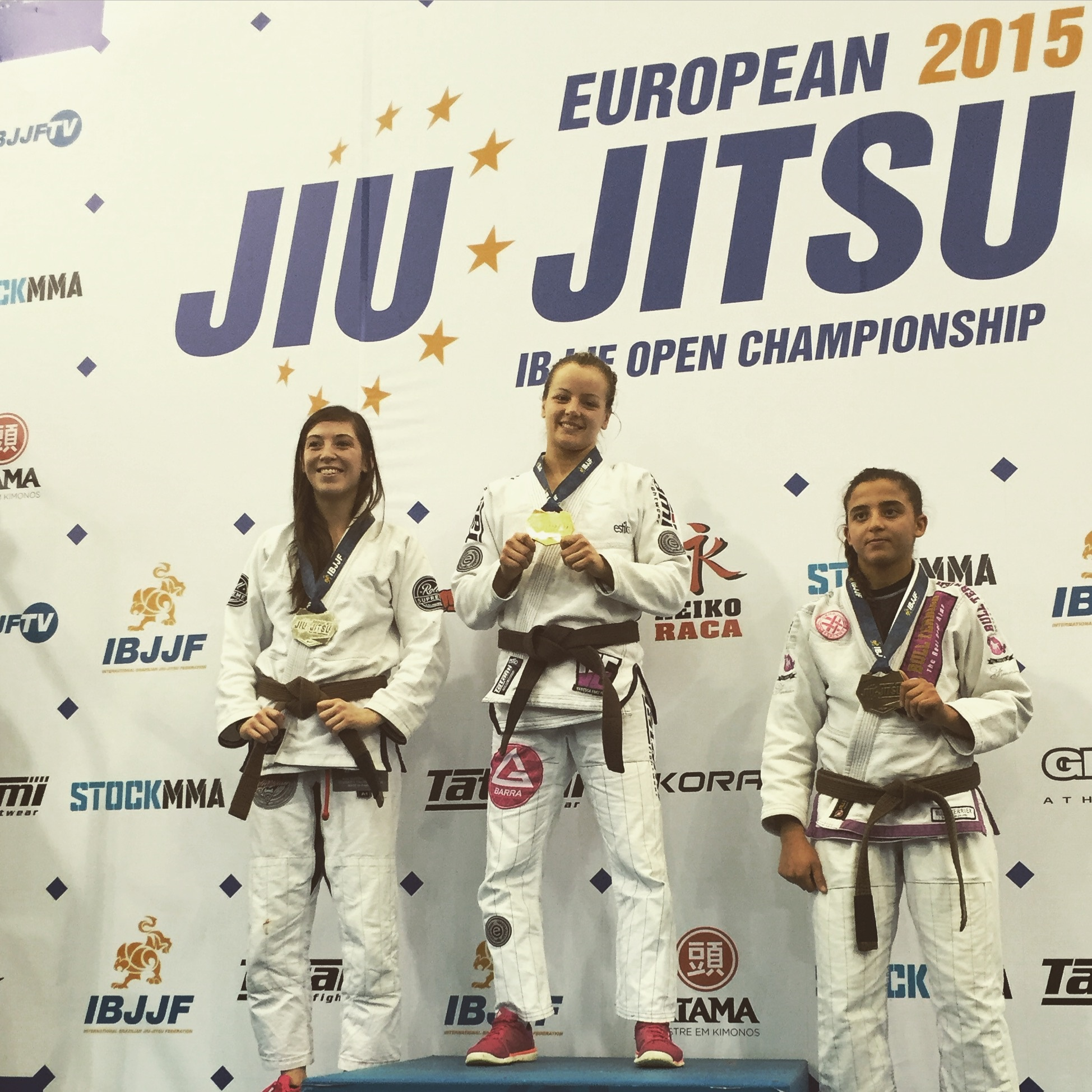 Vanessa English - Gold Brown Belt Adult Feather - 2015 Europeans