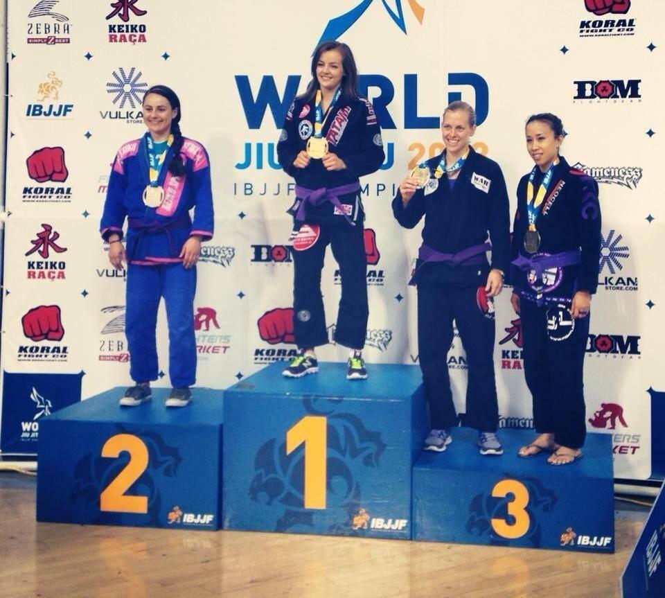 Vanessa English - Gold Purple Adult Belt Feather - 2013 Worlds