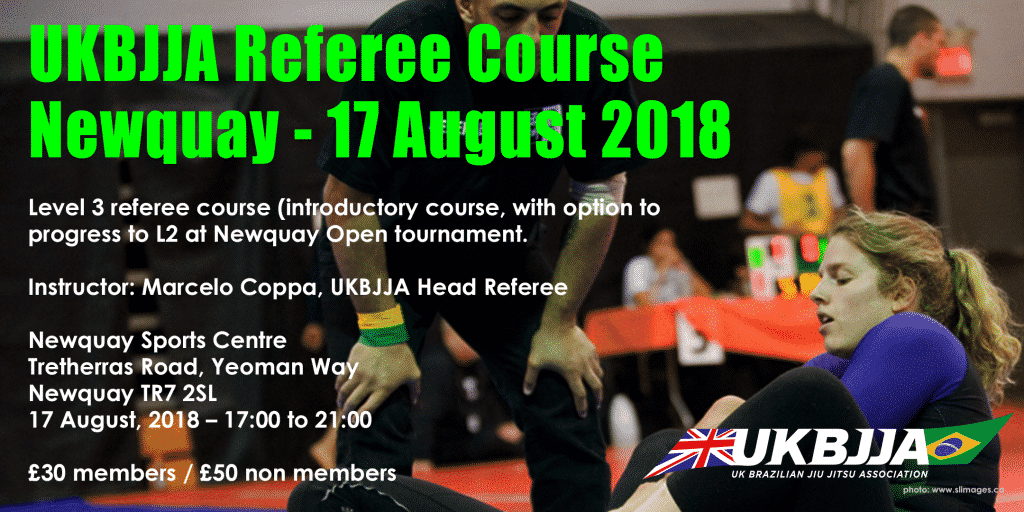 Referee Course Newquay – 17 August 2018