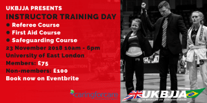 BJJ Instructor Training Day BJJ Referee Course First Aid Course Safeguarding Course