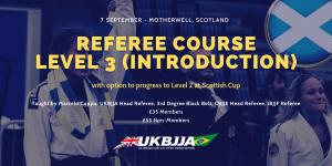 UKBJJA BJJ Referee Course Motherwell Scotland 7 September 2019