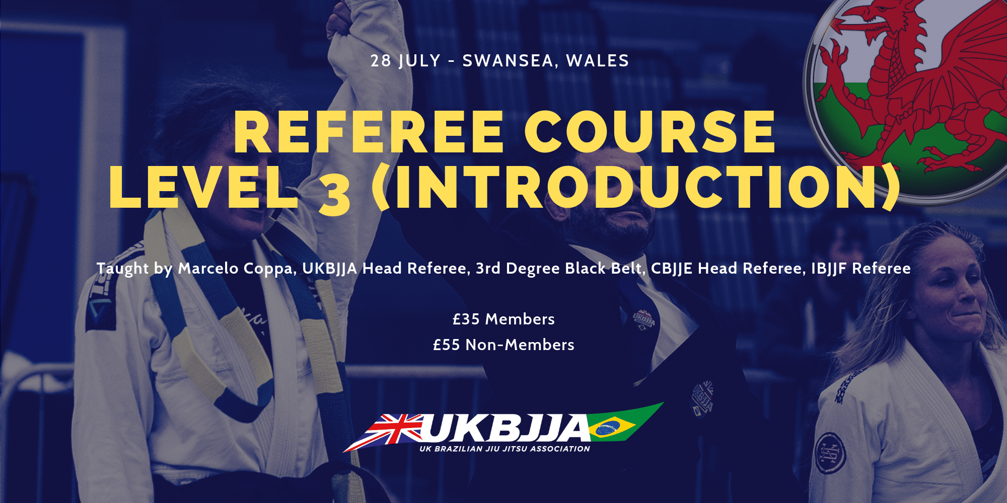 UKBJJA BJJ Referee Course Swansea Wales 28 July 2019