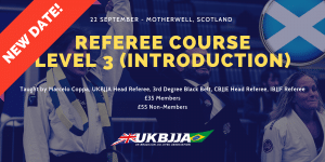 UKBJJA BJJ Referee Course Scotland 22 Sep 2019 Poster