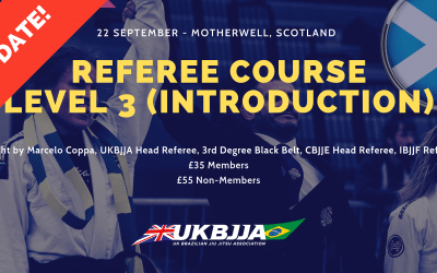 BJJ Referee Course Scotland – Change of Date!