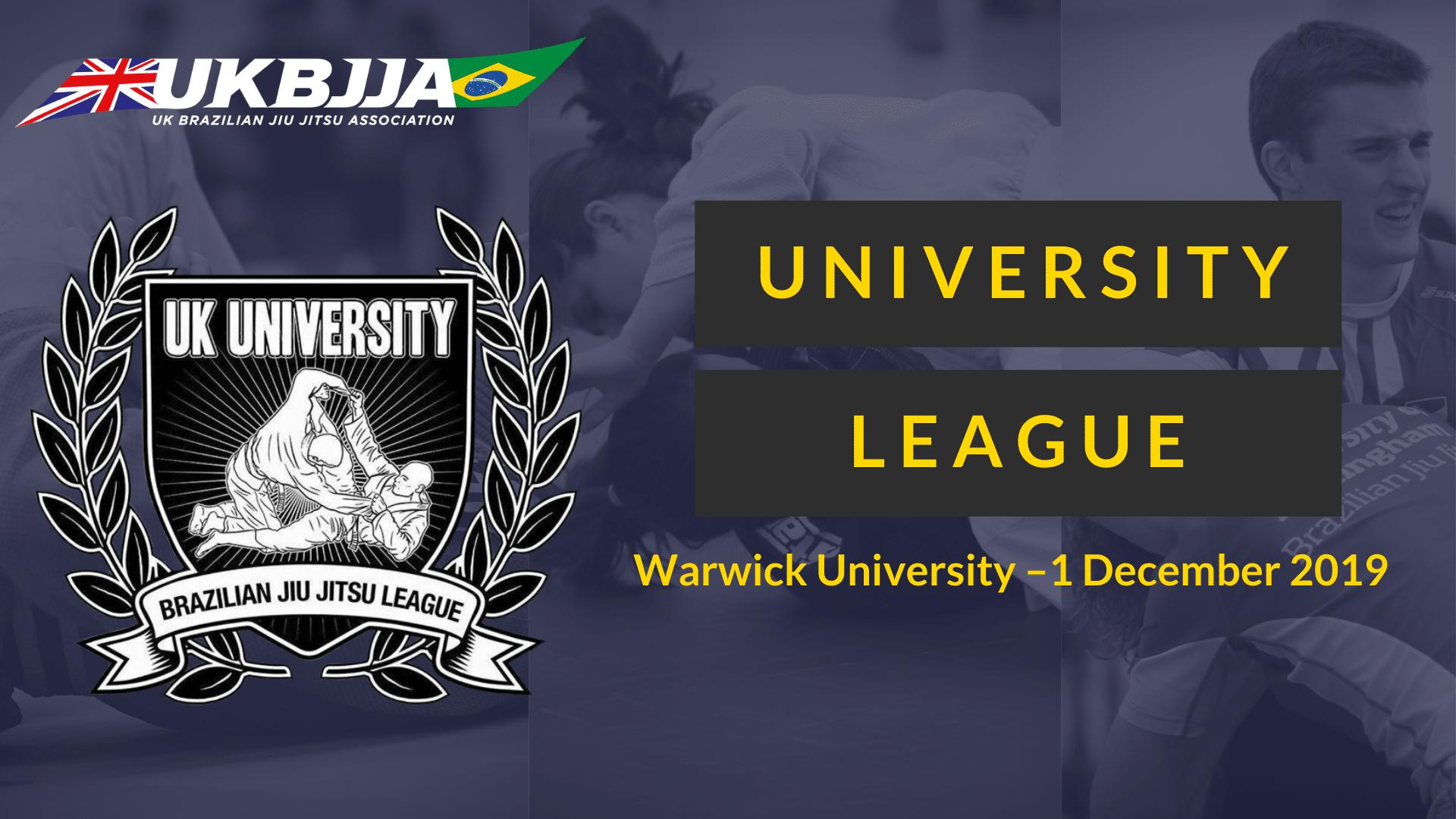 UKBJJA University League 1 Dec 2019 Warwick University