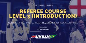 BJJ Referee Course London UK 22 November 2019