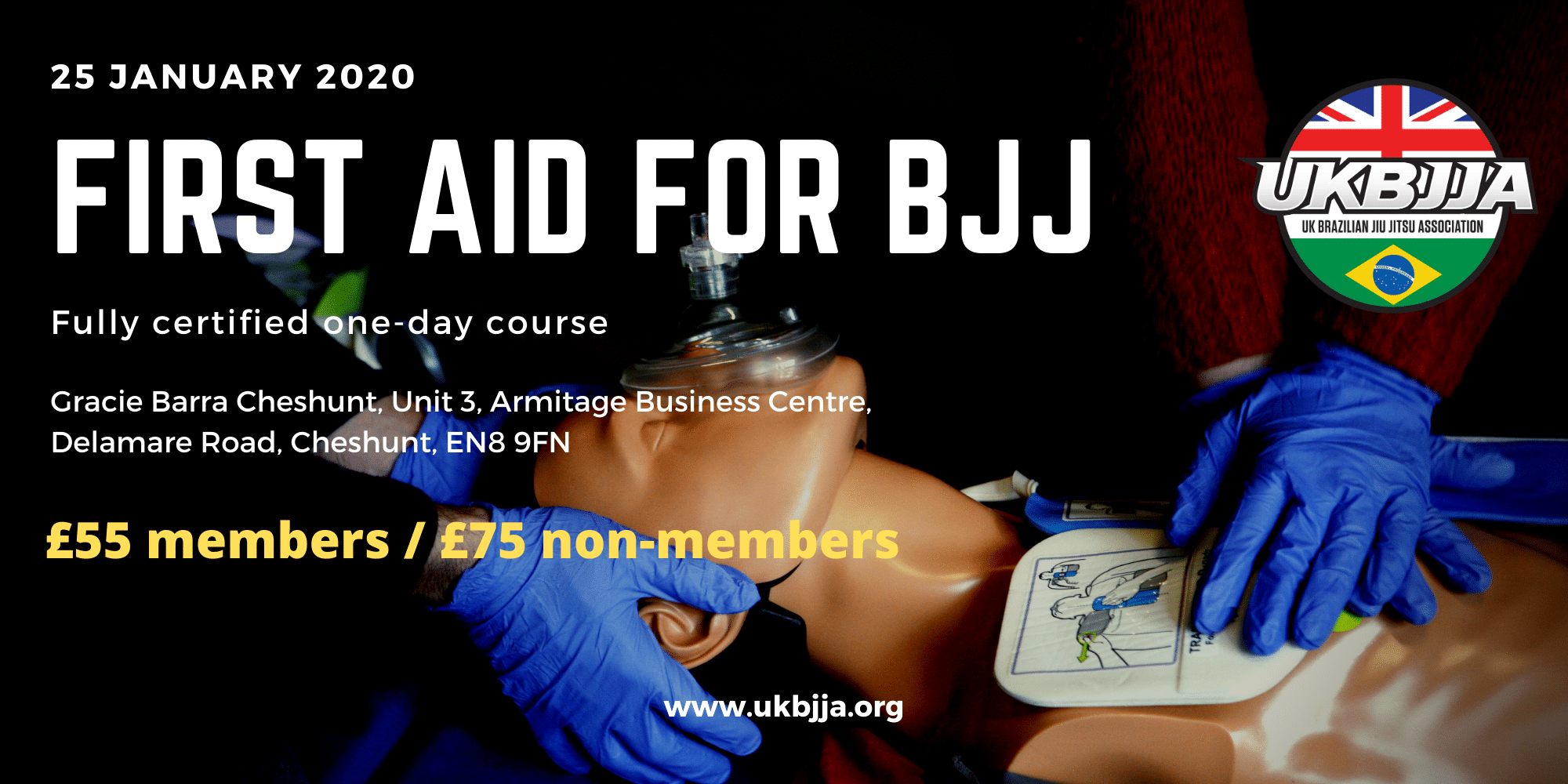 First Aid for BJJ 25 January 2019
