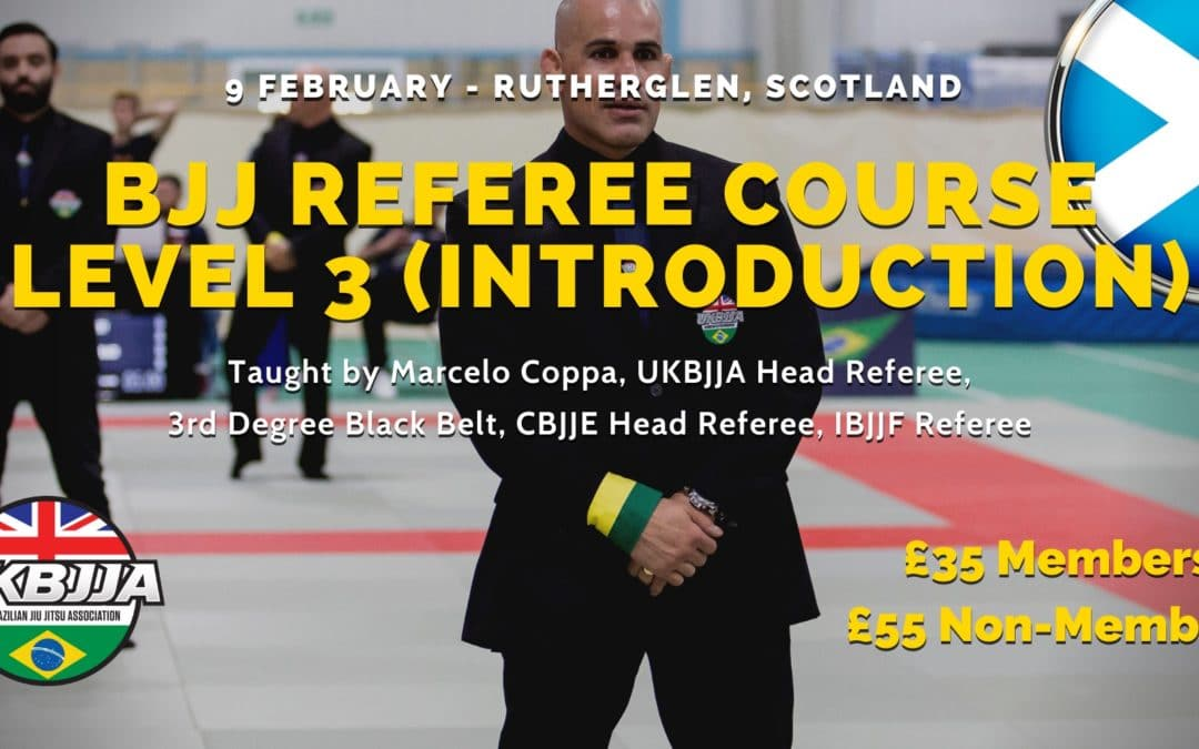 BJJ Referee Course – Level 3 (introduction) – Scotland